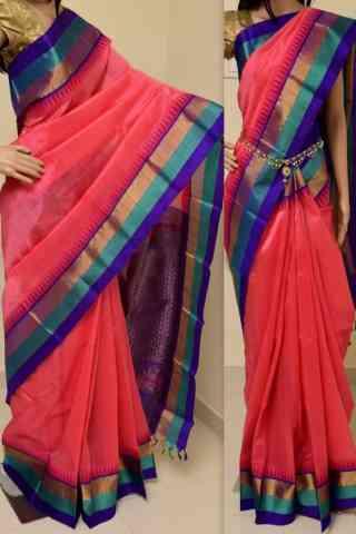 "Charming Pink Color Soft Silk Designer Sarees - SB894  30"""