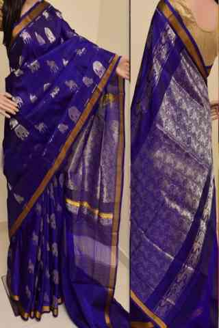 Charming Violet Color Soft Silk Designer Sarees - SB896  30""