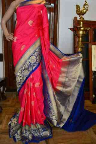 Glorious Pink Color Soft Silk Designer Sarees - SB900  30""