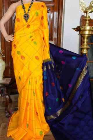 """Glorious Yellow Color Soft Silk Designer Sarees - SB904  30"""""""