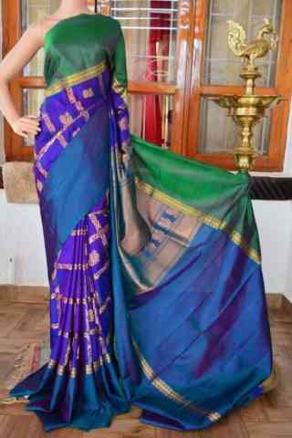 """Pretty Multi Color Soft Silk Designer Sarees - SB906  30"""""""