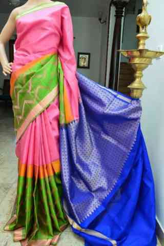 Pretty Multi Color Soft Silk Designer Sarees - SB908  30""