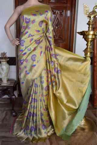 "Pretty beige Color Soft Silk Designer Sarees - SB909  30"""