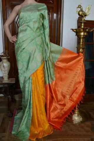Pretty Green Color Soft Silk Designer Sarees - SB910  30""