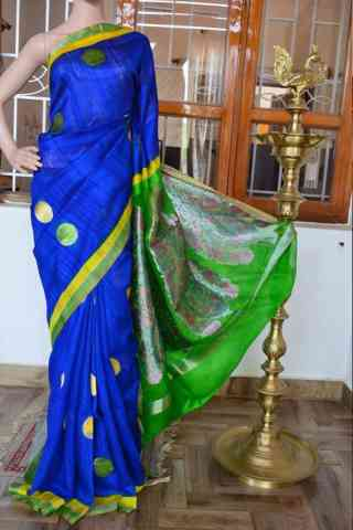 Graceful Blue Color Soft Silk Designer Sarees - SB911  30""