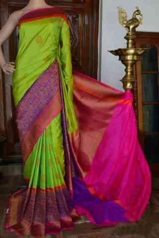 "Graceful Multi Color Soft Silk Designer Sarees - SB912  30"""