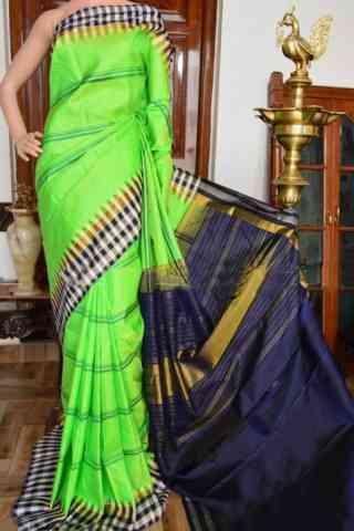 "Dashing Green Color Soft Silk Designer Sarees - SB916  30"""