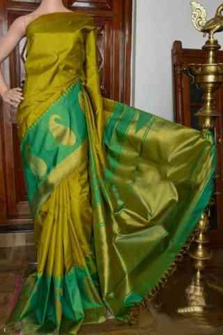 "Glammrous Green Color Soft Silk Designer Sarees - SB926  30"""