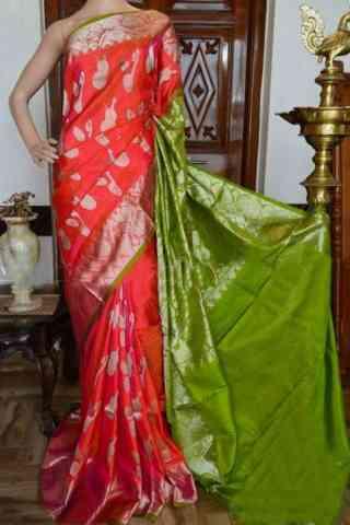 "Glammrous Multi Color Soft Silk Designer Sarees - SB927  30"""