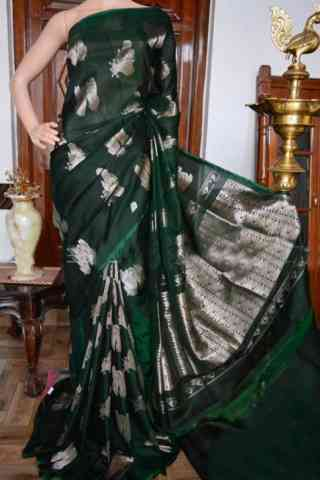 Innovative Green Color Soft Silk Designer Sarees - SB931  30""