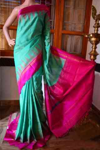Ethnic Turquoise Color Soft Silk Designer Sarees - SB933  30""