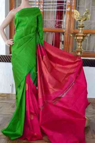 Fashionista Green And Pink Color Soft Silk Designer Sarees - SB939  30""