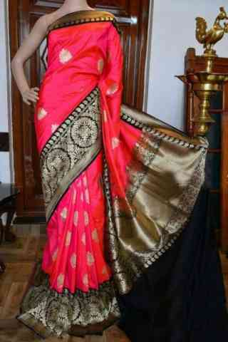 Flawless Pink Color Soft Silk Designer Sarees - SB947  30""