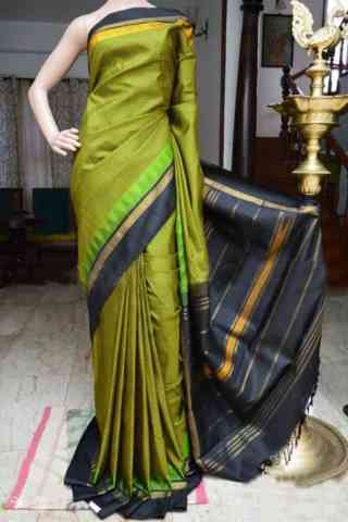 "Flawless Green Color Soft Silk Designer Sarees - SB949  30"""