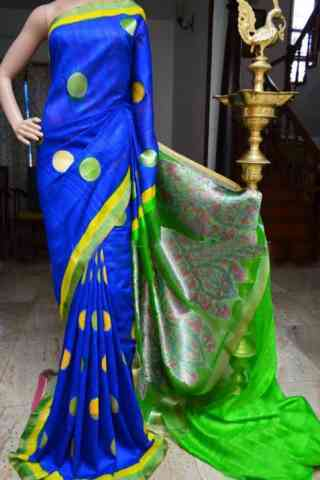 Mind Blowing Blue Color Soft Silk Designer Sarees - SB952  30""