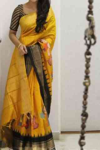Glorious Yellow Color Soft Silk Designer Sarees - SB956  30""