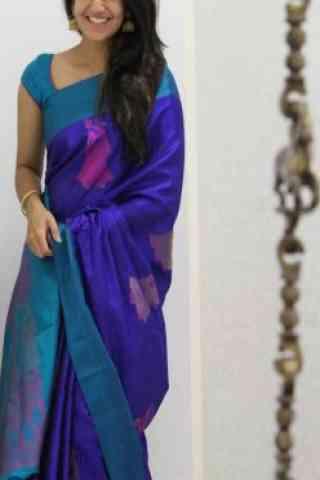 """Modern Violet Color Soft Silk Designer Sarees - SB959  30"""""""