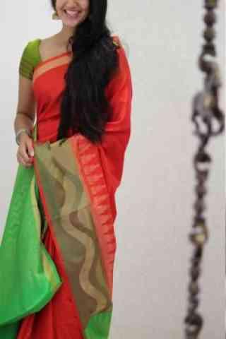 "Stylish Red Color Soft Silk Designer Sarees - SB966  30"""