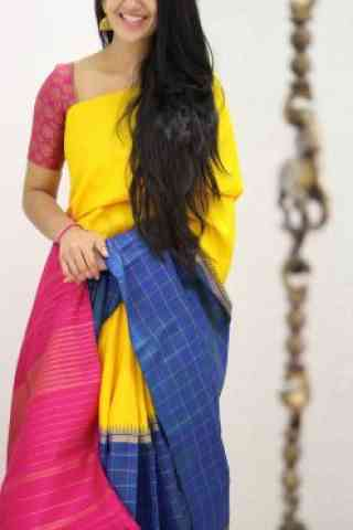 Stylish Multi Color Soft Silk Designer Sarees - SB967  30""