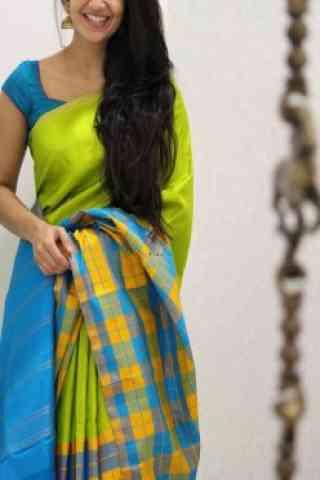 """Attractive Multi Color Soft Silk Designer Sarees - SB975  30"""""""