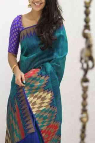 """Unique Multi Color Soft Silk Designer Sarees - SB981  30"""""""