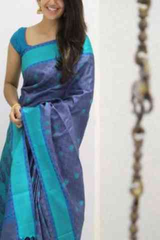 Unique Blue Color Soft Silk Designer Sarees - SB983  30""