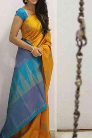 "Glammrous  Yellow Color Soft Silk Designer Sarees - SB988  30"""