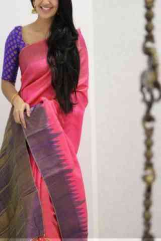 Modish Pink Color Soft Silk Designer Sarees - SB991  30""