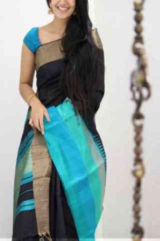 """Amazing Black Color Soft Silk Designer Sarees - SB993  30"""""""