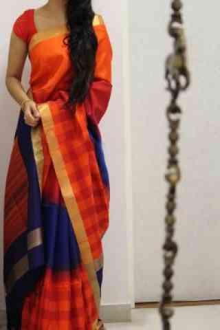 """Admirable Orange Color Soft Silk Designer Sarees - SB999  30"""""""